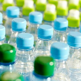 recyclable PET bottles